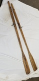 PAIR OF VINTAGE WOODEN BOAT OARS