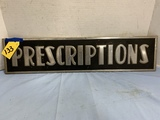 ANTIQUE METAL PRESCRIPTIONS SIGN