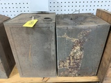 (2) PAIR METAL BAILED CONTAINERS