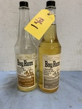 (2) PAIR BAYRUM BARBER BOTTLES