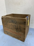 BROMO SELTZER STENCILED WOOD BOX