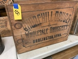 CHURCHHILL DRUG CO WOOD BOX