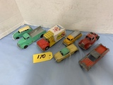 ASSORTED VINTAGE TOOTSIE TOY TRUCKS