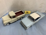 PAIR DIE CAST CARS