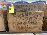 SWAMP ROOT REMEDY STENCILED WOOD BOX
