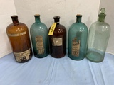 5 EARLY DRUG STORE BOTTLES