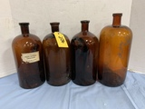 (4) EARLY DRUG STORE BOTTLES