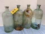(4)EARLY DRUG STORE BOTTLES