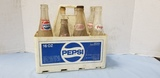 (8) PEPSI COLA BOTTLES W CARRIER