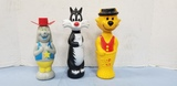 DEPUTY DAWG, SYLVESTER & TOP CAT BUBBLE BATH BOTTLES