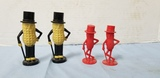 (2) SETS MR. PEANUT SALT & PEPPER SHAKERS