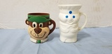 YOGI THE BEAR & PILLSBURY DOUGHBOY CUPS