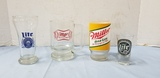 ASSORTED MILLER & MILLER LITE BEER MUGS & GLASSES