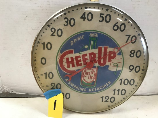 "CHEER UP 12"" ROUND OUTDOOR THERMOMETER"