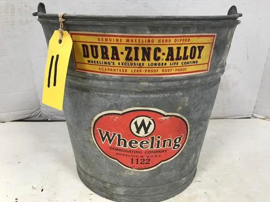 WHEELING DURA-ZINC-ALLOY GALVANIZED #1122 BUCKET