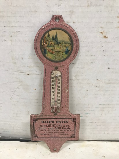 TIN RALPH DAVES MONMOUTH, IL THERMOMETER