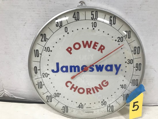 "JAMESWAY POWER CHORING 12"" ROUND OUTDOOR THERMOMETER"