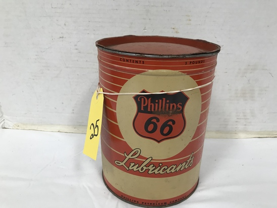 5 POUND PHILLIPS 66 GREASE CAN