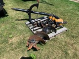 SHAFFER HYDRAULIC DRIVE 3PT POST HOLE DIGGER W/ (2) AUGERS
