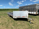 2008 SPECIAL CONSTRUCTED ALUMINUM 4 PLACE DECK-OVER SNOWMOBILE TRAILER