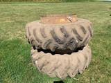 PAIR OF DMI / GOODYEAR 18.4X34 CLAMP ON DUALS