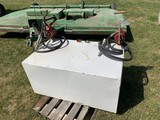 100 GAL TWO COMPARTMENT TRANSFER TANK W/ (2) MANUAL PUMPS