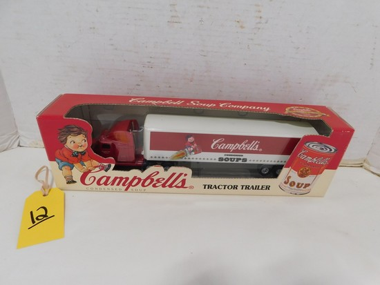 CAMPBELL'S DIE CAST TRACTOR TRAILER