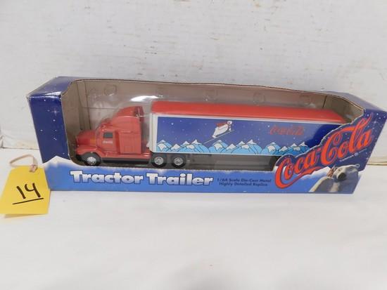 ERTL DIE CAST COCA COLA TRACTOR TRAILER