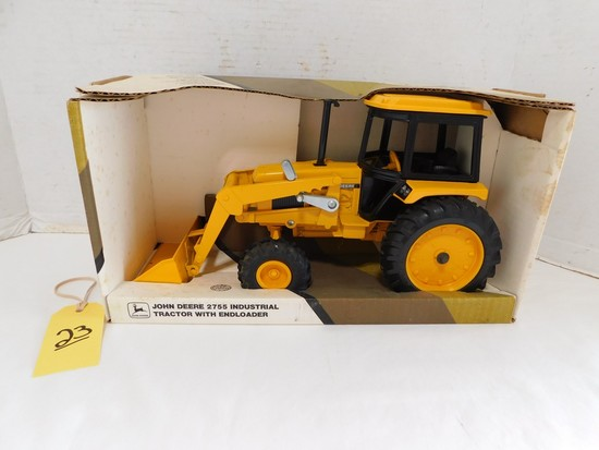 JOHN DEERE DIE CAST 2755 TRACTOR WITH END LOADER