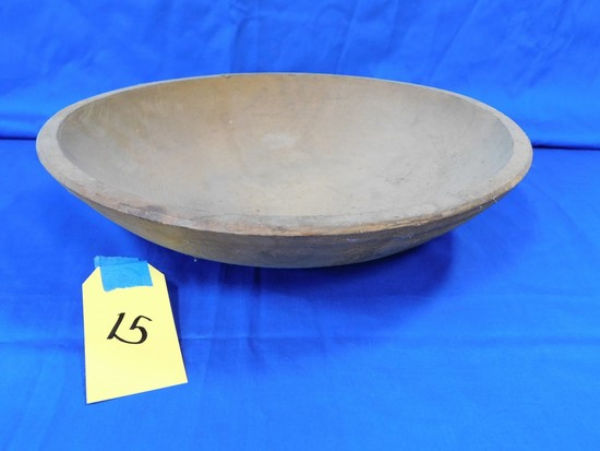 11 1/2 IN WOODEN BOWL