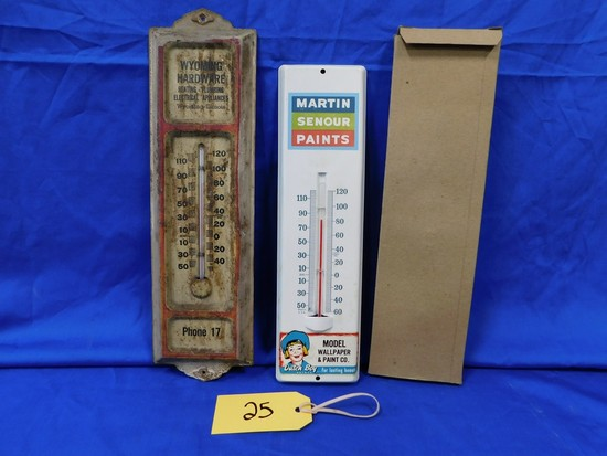 PR METAL ADVERTISING THERMOMETERS