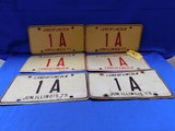 1977,  1978, 1979  ILLINOIS 1A/A1 LICENSE PLATES