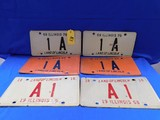 1968, 1969, 1970 ILLINOIS 1A / A1 LICENSE PLATES