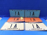 1974, 1975, 1976 ILLINOIS 1A LICENSE PLATES
