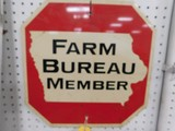 FARM BUREAU MEMBER STOP SIGN