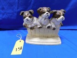 JOHN WRIGHT BULLDOGS CAST IRON DOORSTOP