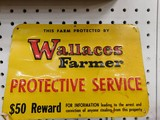 WALLACE FARMER REWARD SIGN