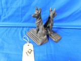 CAST IRON GERMAN SHEPPARD BOOK ENDS
