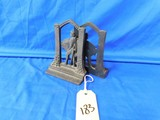 CAST IRON KNIGH AND HORSE BOOKENDS