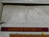 WOODEN HARVESTER 69 SIGN