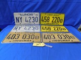 1979, 1983, 1984 ILLINOIS LICENSE PLATES