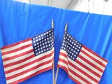 PAIR OF 48 STAR FLAGS