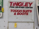 TINGLEY SUITS / BOOTS SIGN