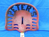 PETERS CAST IRON TRACTOR SEAT