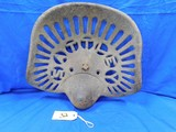 SATTLEY CAST IRON TRACTOR SEAT