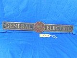 BRASS GENERAL ELECTRIC SIGN
