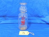 1 QUART CREAM TOP MAPLE CITY DAIRY MILK BOTTLE