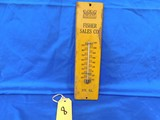 MINNEAPOLIS MOLINE METAL THERMOMETER