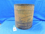 5 GALLON WELCH MOTOR OIL CAN