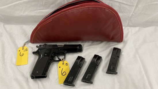 SMITH & WESSON MODEL 59 9MM PISTOL W/ (3) MAGS & SOFT CASE
